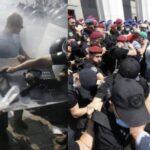 Майдан під Радою розгорівся з новою силою: поліція застосувала сльозогінний газ проти ветеранів-силовиків